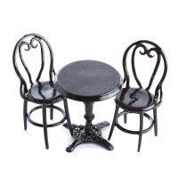 (*) Dollhouse Cafe Table & Chairs - Product Image