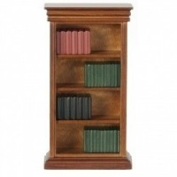 Dollhouse Walnut Bookcase with Books - Product Image