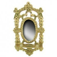 Dollhouse Mirror with shelf - Product Image