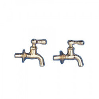 Disc $2 Off - 2 Dollhouse Gold Faucets - Product Image