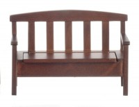 Dollhouse Garden Bench - Walnut - Product Image