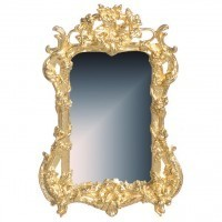 Dollhouse Gold Plated Ornate Mirror - Product Image