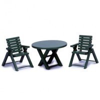 Dollhouse Patio Table & Chair Set - Product Image