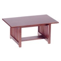 Dollhouse Walnut Mission Style Table - Product Image