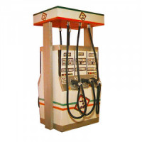 Dollhouse Contemporary Six Hose Gas Pump - Product Image