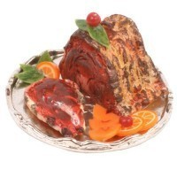 Dollhouse Prime Rib On Metal Tray - Product Image