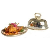 Dollhouse Chicken With Fruit On Metal Tray - Product Image