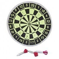 (**) Dollhouse Dart Board with 3 Darts - Product Image