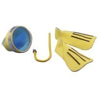 Dollhouse Swim Fins, Snorkel & Mask - Product Image
