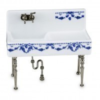 Dollhouse Porcelain Kitchen Sink - Product Image