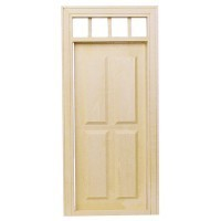 Four Panel Door w/Transom - Product Image