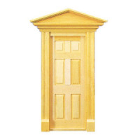 Dollhouse Hooded Victorian Door - Product Image
