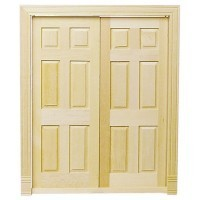 Dollhouse Double 6 Panel Door - Product Image