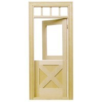 Dollhouse Crossbuck Dutch Door - Product Image