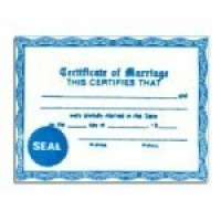 (*) Wedding Certificate - Product Image