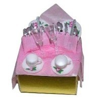 Dollhouse Wedding Gift Box w/ Dishes - Product Image