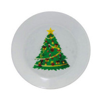 Dollhouse Christmas Plate - Product Image