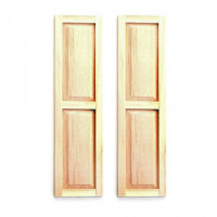 2 pc - Dollhouse Two Panel Shutters - Product Image