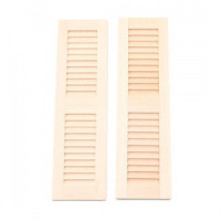 2 pc - Louvered Shutters - Small - Product Image