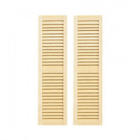 (*) 2 pc - Louvered Shutters - Large - Product Image