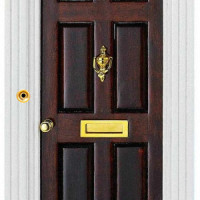 (*) Miniature Working Door Bell- Westminister Chimes/ Church Bell Style - - Product Image