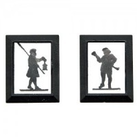 Dollhouse Town Crier & Lamplighter Set - Product Image