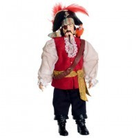 Dollhouse Porcelain Pirate Doll - Product Image