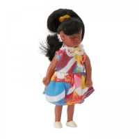 Vinyl DollHouse Doll - Modern African American Girl - Product Image