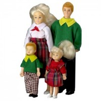 Dollhouse Blonde Modern Doll Family Set - Product Image