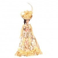 Porcelain Lady Victorian Doll - Floral Gown - Product Image