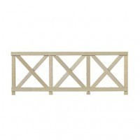 6 pc. Dollhouse Crossbuck Fence - Product Image