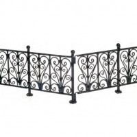 6 pc Dollhouse Wrought Iron Fence - Product Image
