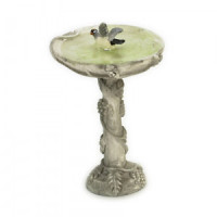 Dollhouse Birdbath with Bird - Product Image