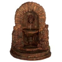 Dollhouse Lion Head Fountain with Steps - Product Image