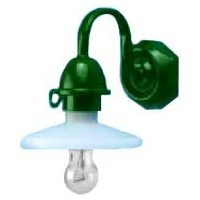 Black or Green Shop Lamp / Security Light - Product Image