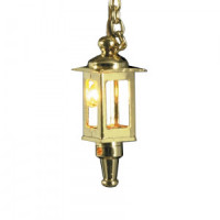 Brass Hanging Coach Lamp - Product Image