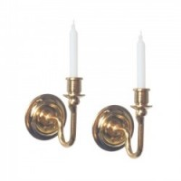 (***) 2 Candle Sconces w/ Candles - Product Image