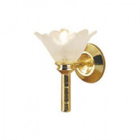 Dollhouse Frosted Flower Wall Sconce - Product Image