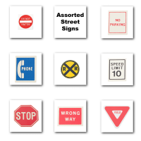 (**) Dollhouse Assorted Road Sign(s) - Product Image