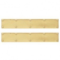 Dollhouse Brass Door Kick Plates - Product Image