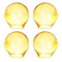 § Sale  Dollhouse Miniature 4 pc Glass Globes- Choice of Color - - Product Image