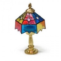 Dollhouse Tiffany Table Lamp - Non Working - Product Image