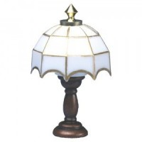 Dollhouse Tiffany Table Lamp - White Shade - Product Image