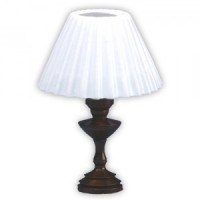 Dollhouse Table Lamp Copper - White Pleated Shade - Product Image