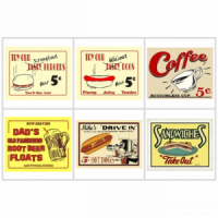 Dollhouse Resturant Sign(s) # 2- Choice of Styles - - Product Image