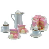 Dollhouse Strawberry Cake with Cocoa for 2 - Product Image