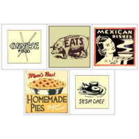 Dollhouse Resturant Sign(s) # 1- Choice of Styles - - Product Image