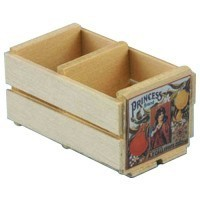 Dollhouse Empty Orange Crate - Product Image