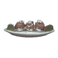 Dollhouse Platter of Baked Potatoes - Product Image