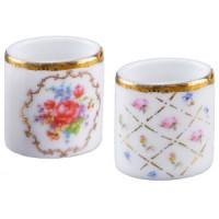 (*) Dollhouse Porcelain Waste Basket(s) - Product Image